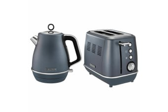 Morphy Richards Evoke Stainless Steel 2 Slice Toaster & 1.5L Jug Kettle Blue