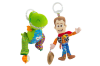 2PK Lamaze Toy Story Clip & Go Baby/Infant Activity Toy w/Teether 0m+ Woody/Rex