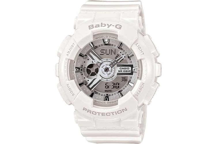 Casio Baby-G Analogue/Digital Female White Big Case Series Watch BA-110-7A3DR
