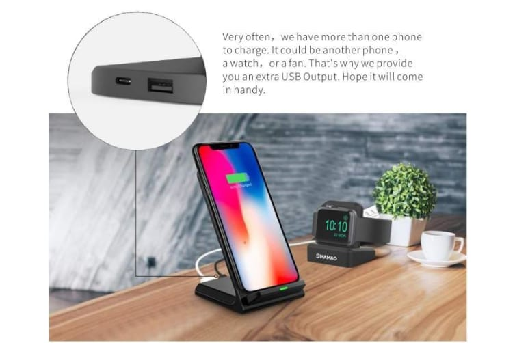 Fast Wireless Charger iPhone XS & X XS MAX XR iPhone 8/8+ Samsung Galaxy S9  S9+ S8 S8+ Note 9/8 iWatch Stand | USB Chargers |