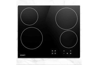 Devanti Ceramic Cooktop 60cm Glass 4 Zone Touch Control Electric Kitchen Burner