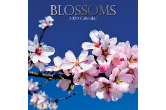 Blossoms - 2020 Premium Square Floral Wall Calendar 16 Month New Year Home Decor