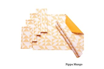Set of 8 Cotton Napery Set Pippa Mango by J Elliot Home