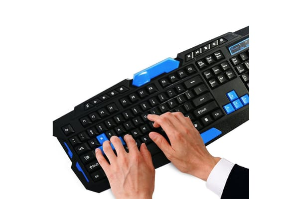 Blue 2.4GHZ RF Wireless Keyboard and Mouse Set
