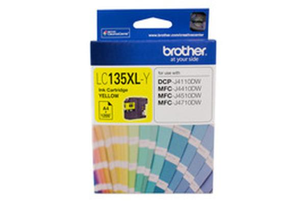 Brother LC-135XLY Yellow Ink 1200pages