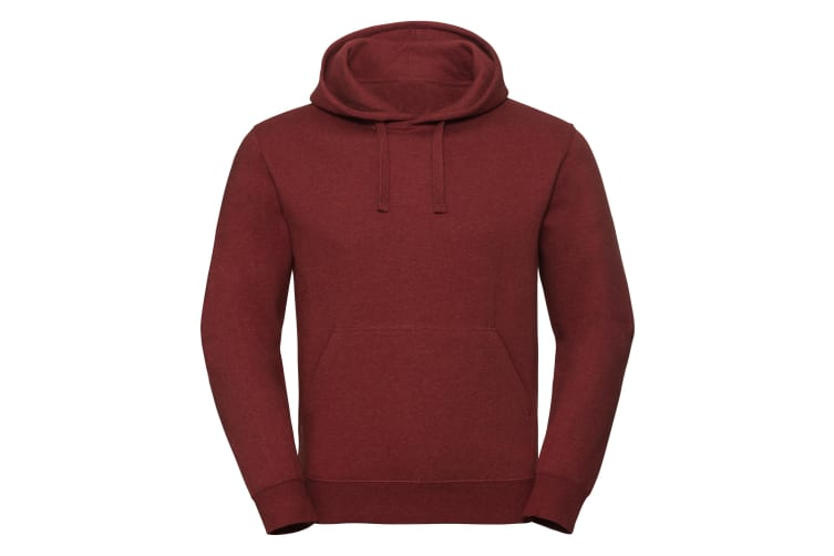 Russell Unisex Authentic Melange Hooded Sweatshirt (Brick Red Melange) (3XL)