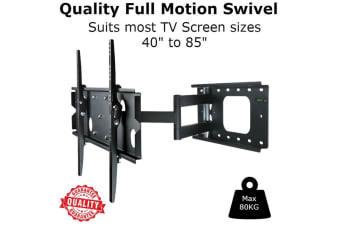 """AEON BU7805  Double Arm Bracket Large Slim. Suitable for 40""""-85"""" televisions. Integrated level for"""
