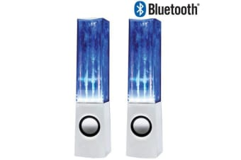 TODO Bluetooth Dancing Water Speaker Show Led Light Music Fountain 3.5Mm Usb Hz-925 White