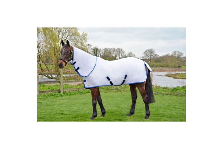 Hy Guard Signature Combo Fly Rug (White/Blue) (6 ft 3)