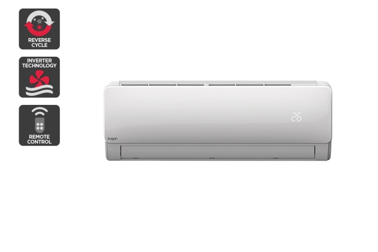 Kogan 2.6kW Split System Inverter Air Conditioner (9,000 BTU, Reverse Cycle)