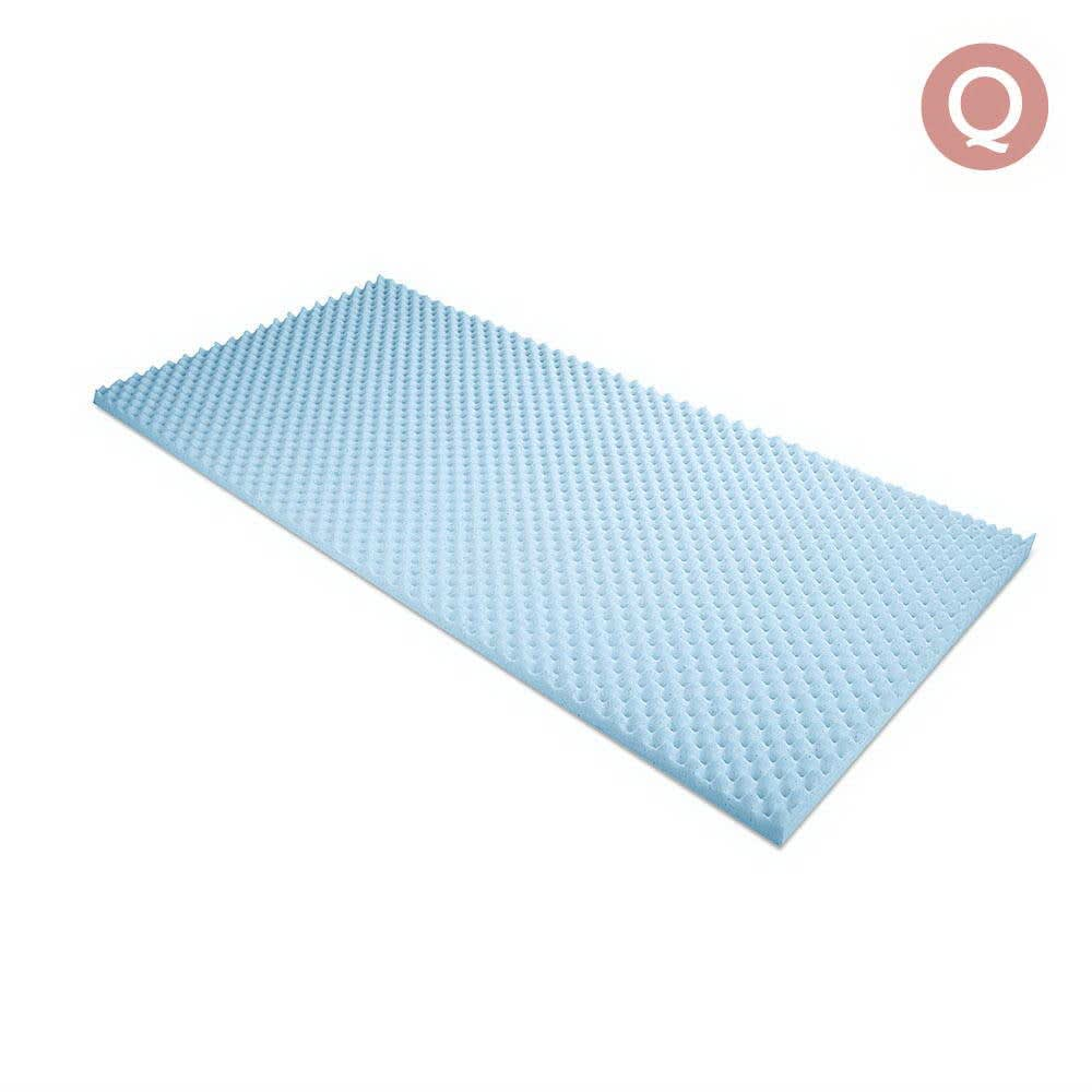 Gel Infused Egg Crate Mattress Topper (Queen)