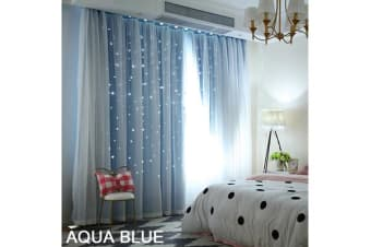 Star Blockout Curtain in BLUE 140X230CM