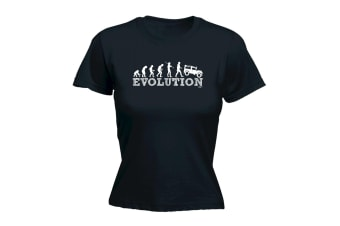 123T Funny Tee - Evo 4X4 - (Medium Black Womens T Shirt)