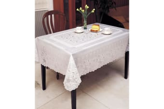 Embossed Vinyl Waterproof Square Tablecloth (Design 1) (54inch x 54inch)
