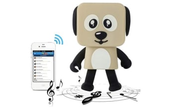 TODO Bluetooth V4.1 Dancing Robot Dog Speaker Portable Rechargeable - Khaki