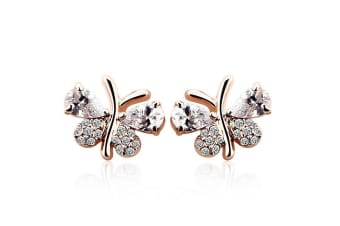 Touch A Butterfly Stud Earrings Embellished with Swarovski crystals