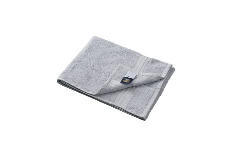 Myrtle Beach Basic Hand Towel (Pack of 2) (Light Grey) (One Size)