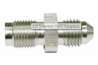 Aeroflow Male -3AN To Inverted M10 X 1.5 Stainless Inverted M10 X 1.5