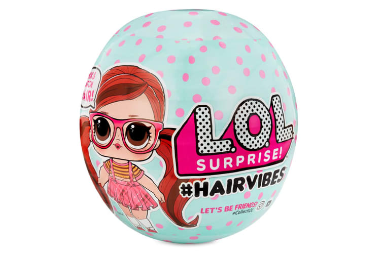 LOL Surprise HairVibes Tots Hair Mix Match Makeover Doll w/Comb/Wig 6y+ Asst