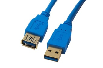 Cabac 2m AM-AF Male-Female Blue Colour USB3 Extension Cable