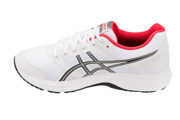 ASICS Men's GEL-Contend 5 Running Shoe (White/Black, Size 11)
