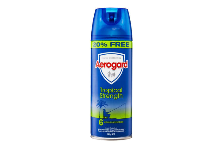 Aerogard 300g Tropical Strength Flies/Insect Repellant Spray 6h Protection