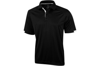 Elevate Mens Kiso Short Sleeve Polo (Pack of 2) (Solid Black) (L)