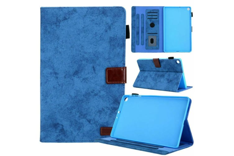 For Galaxy Tab A 10.1(2019)T510/T515 Tablet Flip leather Stand Cover Case-Blue