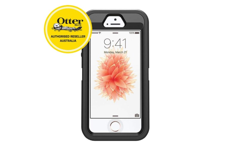 Otterbox Defender Rugged Drop Dust Protection Case/Cover for iPhone 5/5s/SE BLK