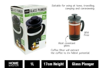 Glass Plunger French Press Coffee Tea Maker Filter 1 litre