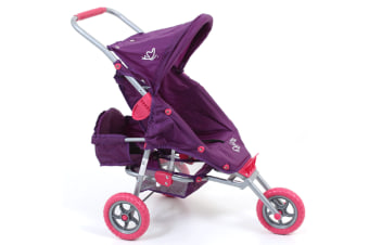 Valco Baby Just Like Mum Mini Marathon w/ Toddler Seat Doll Pram Toy Kids Purple