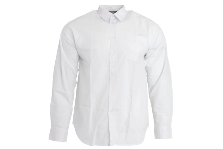 Sheldon Boys Long Sleeve School Shirt (White) (Size 17 (To Fit Chest Up To 112cm))