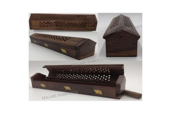 New Wooden Incense Holder Burner Box Stick Holder Home Decor Elephant Decoration