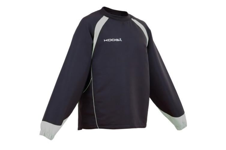 Kooga Adults Unisex Vortex II Long Sleeve Sports Top (Black/Black) (2XL)