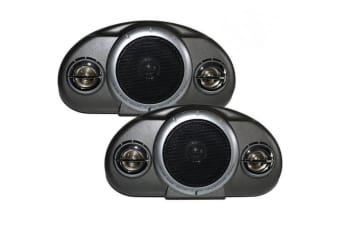 Axis Ax333 Compact Box Car Audio Speakers Surface Mount 120W 3-Way High Power