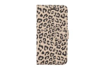 For Samsung Galaxy S9 PLUS Wallet Case  Leopard Pattern Leather Cover Brown
