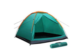 Bestway 3 Person Camping Tent Dome Family Canvas Swag Hiking Canvas Beach Tent
