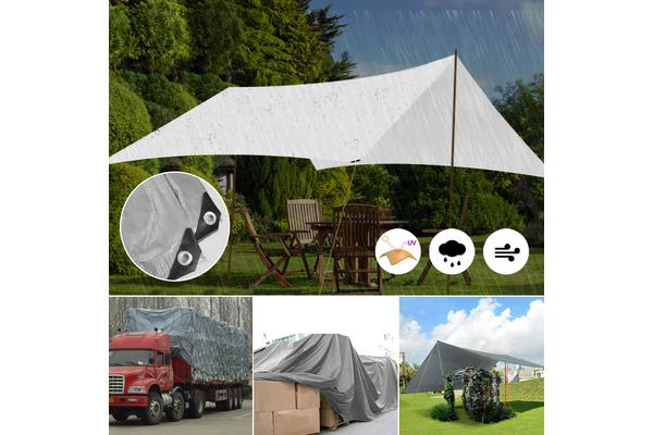 Extra Heavy Duty Shade Sail Charcoal 5x3m 280GSM