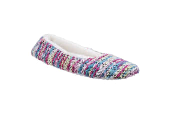 Divaz Womens/Ladies Morzine Knitted Slippers (Pink) (Large)
