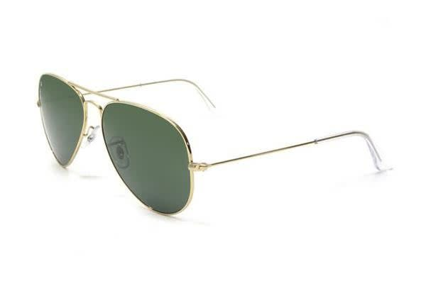 Ray Ban RB3026 AVIATOR LARGE METAL II - Arista Crystal (Green lens) Unisex Glasses