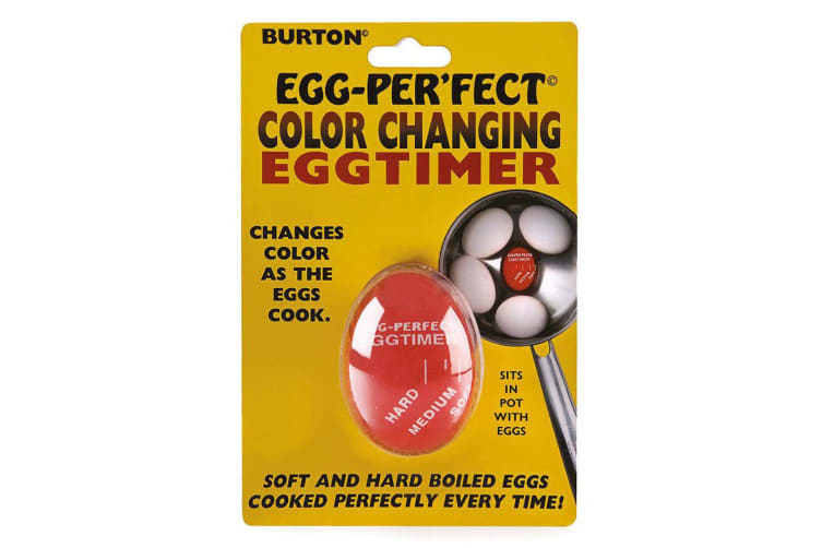 Burton Egg-Perfect Colour Changing Kitchen Cooking Egg Timer Soft Medium Hard RD