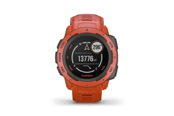 Garmin Instinct Rugged GPS Smart Watch - Flame Red (010-02064-34) (English Only)