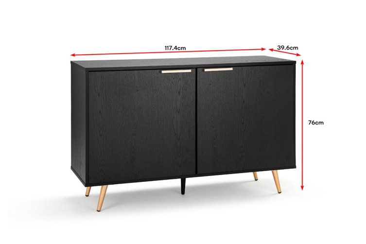 Shangri-La 2 Door Buffet - Vienna Collection (Black/Gold)
