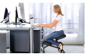 Adjustable Kneeling Chair Office Stool Black