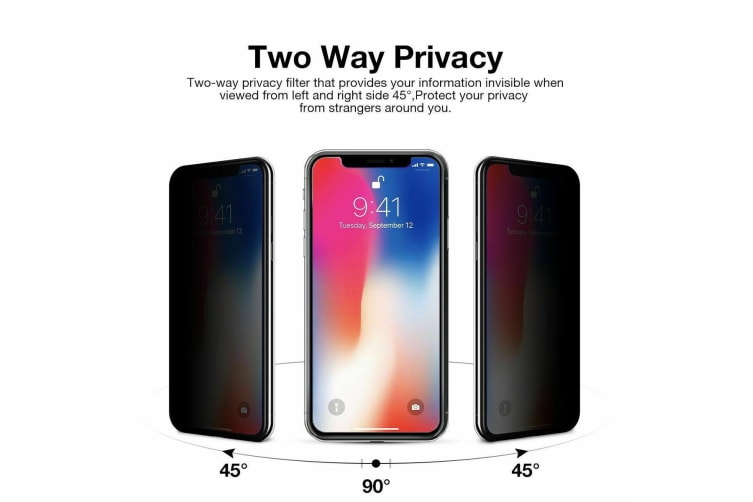 ANTI-SPY PRIVACY TEMPERED GLASS SCREEN Protector FOR Apple iPhone XR-Antispy