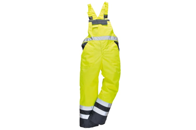Portwest Unisex Contrast Hi Vis Bib And Brace Coveralls - Unlined (S488) / Workwear (Yellow/ Navy) (L)