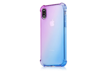 Slim Color Gradient Shock Absorption Protective Cases For Iphone Xs&Iphone Xs Max &Iphonexr Purple Blue Iphone 7/8