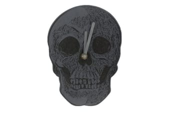Cabinet Of Curiosities Skull Clock (Black) (One Size)