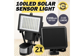 ATEM POWER 2x 100LED Ultra Bright Solar Sensor Light Security Motion Detection Garden Flood