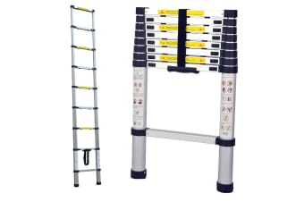 TRA 2.6m Portable telescopic ladder with carry bag